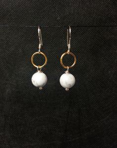 Sterling Silver  Howlite  Earrings.