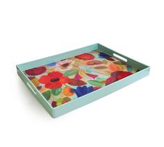 American Atelier Summer Floral Rectangle Tray  1270134 by American Atelier