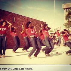 Ladies of Delta Sigma Theta from UF, late 1970's #DST #DeltaSigmaTheta #1913 #sorors #indacy #NPHC #Greeks #Deltas #CrimsonCream #divas