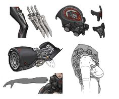 Excellent concept art for Metal Gear Rising, posted by concept artist at Platinum Games, Zhao.