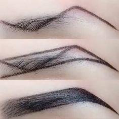 Accessoires Z-Typ Augenbrauen Make-up-Technik Makeup Makeup Techniques eyebrows Eyebrow Makeup Tips, Makeup 101, Makeup Brushes, Makeup Eyebrows, Makeup Ideas, Eye Brows, Makeup Inspo, Drawing Eyebrows, Blonde Eyebrows