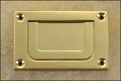 Brass Surface-Mount Handle - Hardware    Surface mounted and cheap for Malm dresser campaign style hack