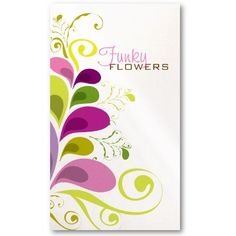 Colorful Floral Deco Leaves Profile Card Business Card Templates