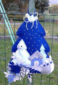 Albero di natale in blu -feltro -luisa valent