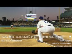 Stana Katic: Los Angeles Dodgers vs Pittsburgh Pirates Game - First Pitc...