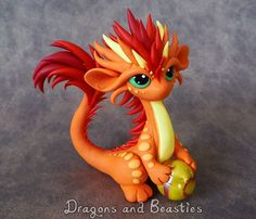Available now on Ebay: www.ebay.com/itm/121698482539 More oriental dragons! I wanted this guy to be all firey colors.  Hand sculpted from Premo Sculpey clay, 3 inches tall ---------------...