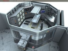 By Mehmetyenice, lab, medlab, science pod, modular, sci-fi. medical solitary cell.