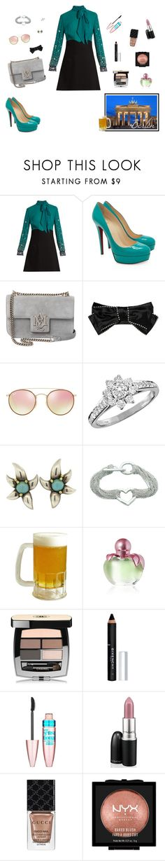 """J-Hope's girl - First trip as a couple. Destiny? Berlin!"" by raven-costa on Polyvore featuring moda, Miu Miu, Christian Louboutin, Alexander McQueen, Gucci, Ray-Ban, Tiffany & Co., Nina Ricci, Chanel e Givenchy"