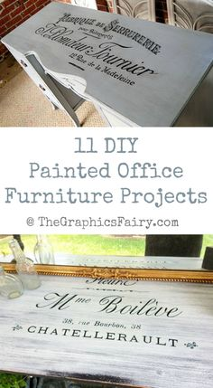 11 DIY Painted Office Furniture Projects