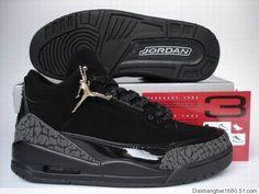 5e2a1e073e2f13 Air Jordan Retro 3 Black Dark Charcoal Black Black Cat. Jordans Girls ...