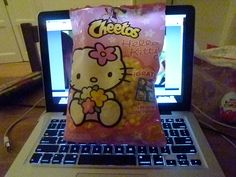 Okay, so they tasted disgusting, but it was super adorable to be able to buy Hello Kitty Cheetos when I lived in Spain.