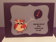 ,Einladung,Geburt BabyGlückwunschkarte von Schönes aus Stempel und Papier auf DaWanda.com