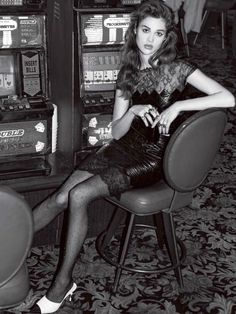 Lost Vegas: Anais Pouliot by Andrew Kuykendall for L'officiel NL August 2016 - Chanel