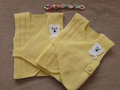 Baby-Kids - Swaddle Vest Making - Knitting Models Baby Pullover, Baby Cardigan, Crochet Baby, Knit Crochet, Best Baby Gifts, How To Start Knitting, Baby Swaddle, Knit Vest, Baby Kind