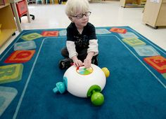 YOMi is a toy designed for visually impaired and sighted kids to play together