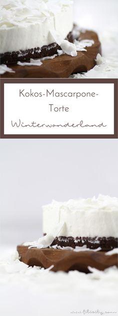 No-Bake Kokos-Mascarpone-Torte (German Sweet Recipes) Apple Recipes, Sweet Recipes, Baking Recipes, Low Carb Desserts, No Bake Desserts, Dessert Recipes, Cake Mascarpone, Torte Au Chocolat, Caramel Treats