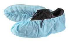 Safe N' Clean™ Disposable Shoe Covers, Non-Skid Bottoms