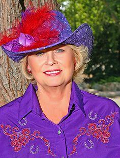 Dale Evans Cowgirl Hat Purple