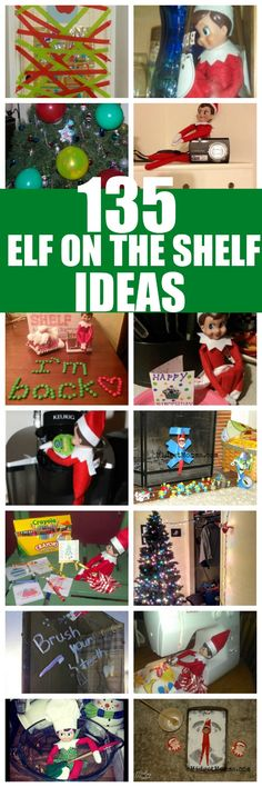 HUGE list of 135 Easy Elf on the Shelf Ideas. Don't be stuck on Elf Ideas! We have you covered with LOTS of Elf on the Shelf Ideas the kids will love! All Things Christmas, Christmas Holidays, Christmas Bulbs, Christmas Crafts, Christmas Decorations, Christmas Ideas, Holiday Fun, Winter Holidays, Christmas Recipes