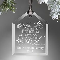 We Will Serve The Lord Engraved Ornament