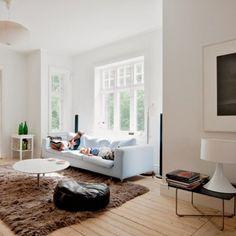 Un salon design tout blanc