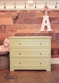 Build a dresser that can double as a changing station! FREE plans and tutorial at Shanty-2-Chic.com