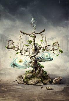 'Balance of Life' Libra Art Libra, Zodiac Art, Libra Zodiac, Zodiac Signs, Libra Astrology, Astrological Sign, All About Libra, Libra Tattoo, Signo Libra