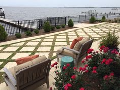 Pensacola Bay home using our Champagne Pavers.