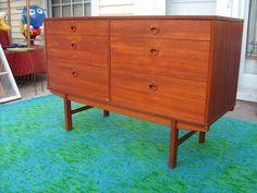 DUX Teak Credenza Vintage Mid Century Danish Modern by Folke Ohlsson. Buy-It-Now price on eBay $600.