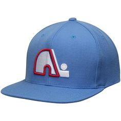 Mitchell  amp  Ness Quebec Nordiques Blue NHL Vintage Wool Solid Snapback Hat  Hockey 4d311315f