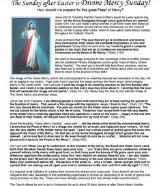 how to prepare for Divine Mercy Sunday