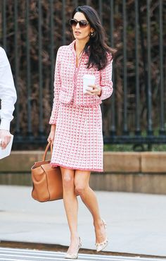 Amal Clooney in a skirt suit and pumps