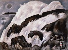 """After the Hurricane,"" Marsden Hartley, 1938, oil on canvas, 30 x 40"", Portland Art Museum."