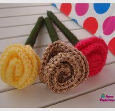 Lapicera forrada al crochet