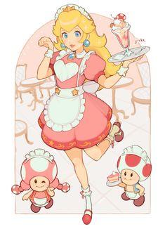 Guardados / Twitter Peach Mario, Mario And Princess Peach, Mario Fan Art, Super Mario Art, Super Mario Brothers, Hama Beads Minecraft, Perler Beads, Princess Peach Cosplay, Instructions Lego