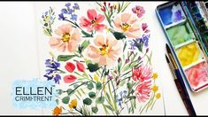 Loose Wildflowers Watercolor Painting/ Step by Step demo/ Floral Friday Painting & Drawing, Watercolor Paintings, Floral Paintings, Painting Flowers, Watercolour Tutorials, Painting Tutorials, Tip Jars, Step By Step Painting, Sales And Marketing