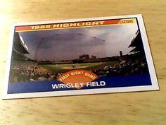 Score 1988 highlight wrigley field card 652