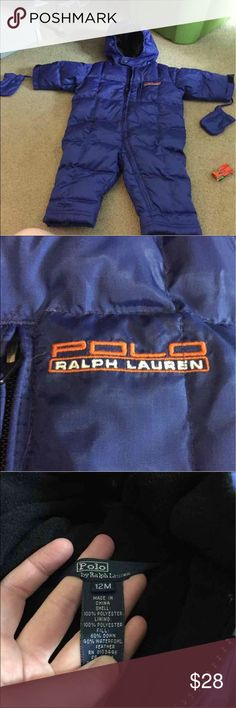 Polo Ralph Lauren snow suit for baby Blue, size 12 months ... Never worn... No tags Polo by Ralph Lauren Other