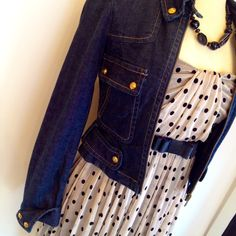 W Julienne Dress + BCBG Denim Jacket