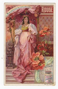 urbitrend-collectables - Set of 6 Liebig cards Colors of the rainbow san662bel issued in 1901,