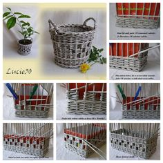 What do you do with old newspapers? Because we just found out a brilliant use for them! These baskets look beautiful and uses rolls of newspapers. #DIY
