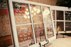 Vintage Window Seating Chart