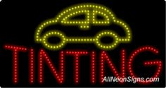 """Auto Tinting LED Sign-ANSAR20446  11""""x27""""x1""""  Indoor use only  Low energy cost: Uses ONLY 10 Watts of power  Expected to last at least 100,000 hrs  Cool and safe to touch, low voltage operation  High visibility, even in daylight  Easy to clean, Easy to install, Slim & Light Weight  Maintenance FREE  1 YEAR Warranty."""