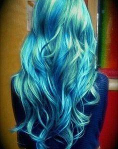 Mermaid colored hair