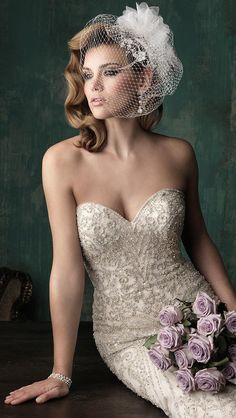 Allure Couture Fall 2015 Bridal Collection - Wedding/BRIDES The Dress! - Allure Couture Fall 2015 Bridal Collection – Wedding/BRIDES The Dress! styles/ideas I Like! Cinderella 2015 Wedding Dress, 2015 Wedding Dresses, Wedding Gowns, Cinderella Movie, Wedding Garters, Wedding Hats, Mermaid Wedding, Allure Couture, Long Gown Simple