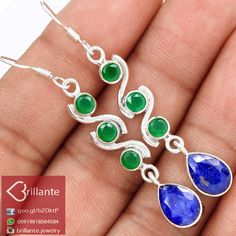 #Awesome 925 #Sterling #Silver #Handmade #Sapphire, #Emerald #Earring for #woman  #jewelry #We #deals in all types of #jewelry like #Children's #Jewelry #Engagement & #Wedding #Ethnic, #Regional & #Tribal #Fashion #Jewelry #Fine #Jewelry #Handcrafted #Artisan #Jewelry #Jewelry #Design & #Repair #Men's #Jewelry #Vintage & #Antique #Jewelry #Wholesale Lots so please ask us if you have any #enquiry