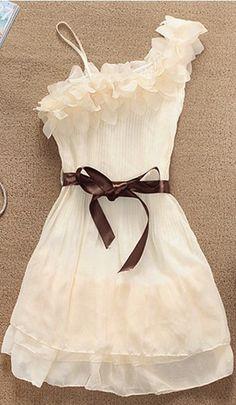 Sweet Flowers Shoulder Pleated Dress
