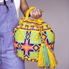 FREE SHIPPING - Mochilas Wayuu Bags   Bolsa Wayuu   Colombian Bags   Susu Bags Handmade by the Indigenous Wayuu People. FAIR TRADE. @WayuuTribe. Brasil Wayuu Bolso
