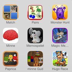Appar+för+minnesträning+och+koncentration Sensory Tubs, Sensory Bottles, Sensory Activities, Appar, Monster Hunt, Discovery Bottles, Minne, Iphone, School Stuff