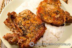 Cotlet aromat in bere Romanian Food, Pork Recipes, Tandoori Chicken, Ethnic Recipes, Pork